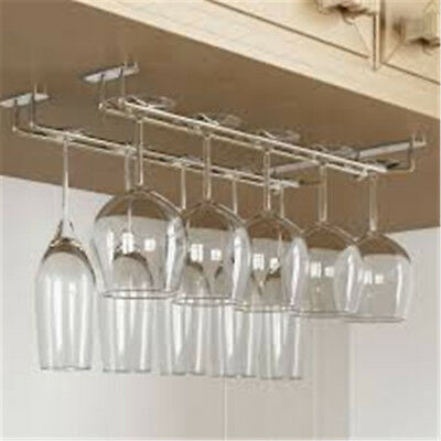Stemware Hanging Rack Shelf Stemware Wine Rack Hanging Rail Glass Storage AU