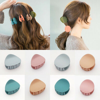 1PC Acrylic Hair Claw Clip Hair Clamp Round Triangle Women Hairpin Barrette