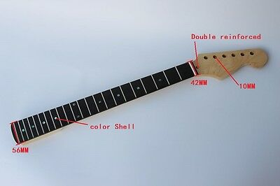 Nice Maple Guitar Neck Rose Fretboard 22 Frets For / Squier Stratocaster