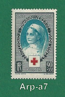 FRANCE stamps Unused * 1939 The 75th Anniversary of the Red Cross  (FR61)