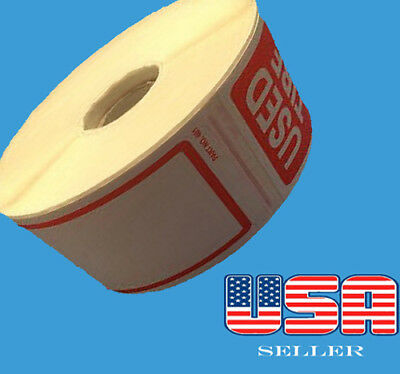 "250 Used Tire STICKERS Roll Size 2.50"" X 6"" Total 250 Stickers"