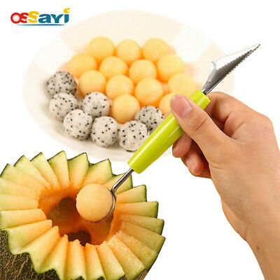 Watermelon Melon Fruit Baller Carving Knife Ice Cream Scoop DIY Melon Scoops