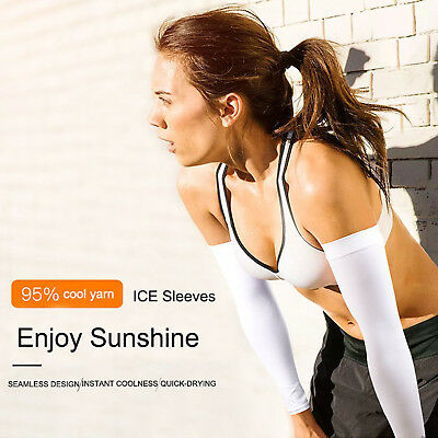 Arm Cooling Golf Driving Sleeve Covers With UV Sun Protection  For Men Women