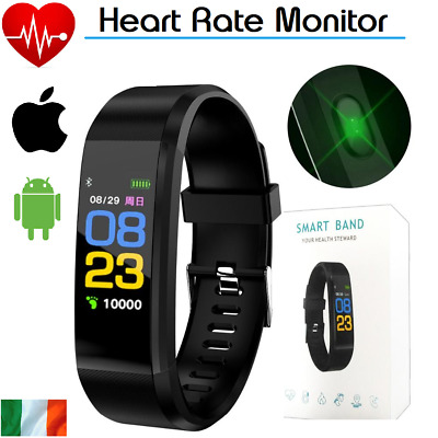 Smart Watch Bracelet Wristband Fitness Heart Rate BP Monitor iPhone Android