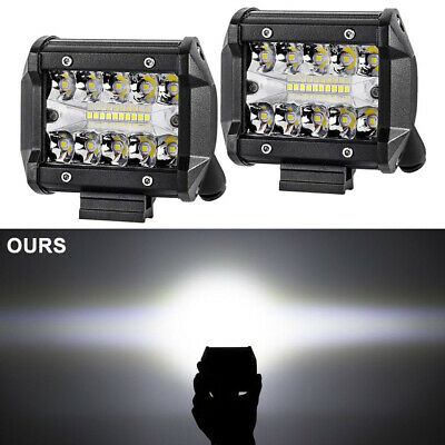 4Inch LED Work Light Side Shooter Driving Pods Combo Beam Offroad Truck 4WD Lamp