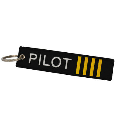 Novelty Pilot Launch Key Chain Keychain  Motorcycle Cars Key Tag Embroidery Race