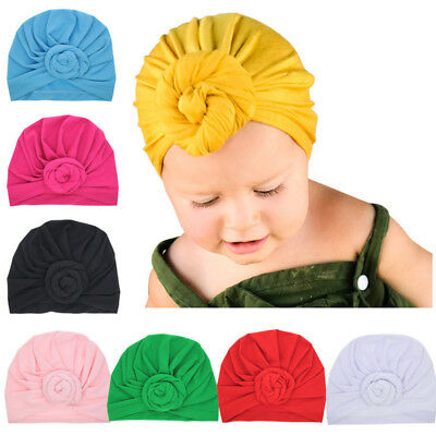 Unisex Baby Toddler Infant Hats Turban Beanie Hats Summer Protection Head Cap