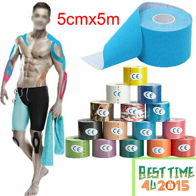 5m Sports Kinesiology Tape Elastic Physio Muscle Tape PRO Pain Relief Support UK