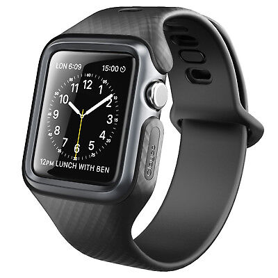 Rugged Apple Watch Case Band Protective Cover iWatch 38mm Series 1 2 3 Black NEW