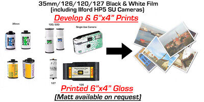 35mm Black & White FILM DEVELOPING and 6x4 Prints