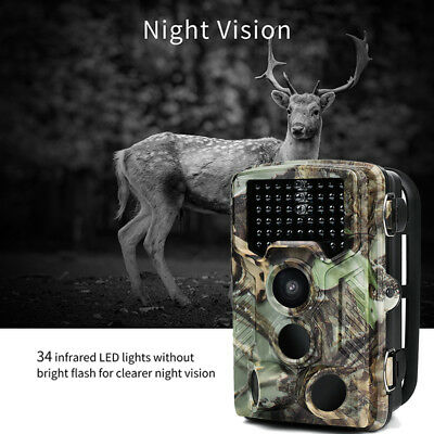 XT-454 Trail Camera 16MP 1080P 120° 0.2S Wildlife Game Hunting Camera LOT H1R