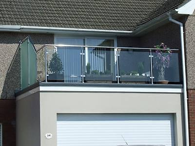 Stainless steel custom made handrail systems with glass or rods balconies MORE