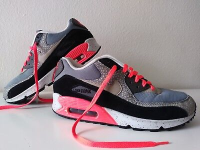 768c0164334e Nike Air Max 90 Premium PRM Bamboo OG Safari Black Grey Infrared Size 8