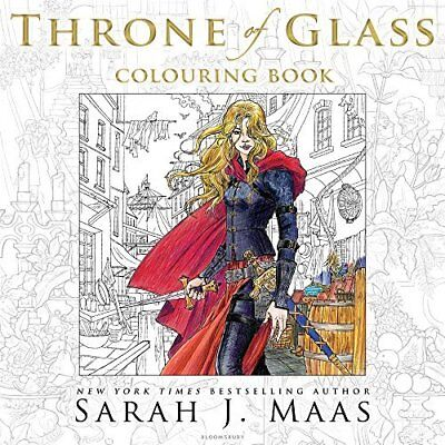 Maas Sarah J.-Throne Of Glass Colouring Book  (UK IMPORT)  BOOK NEW