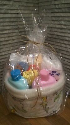 New Baby gift set Johnson products in a HANDMADE fabric box