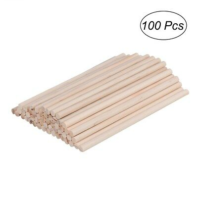100Pcs Round Wooden Lollipop Lolly Sticks Cake Dowel for DIY Food Craft 150*6mm