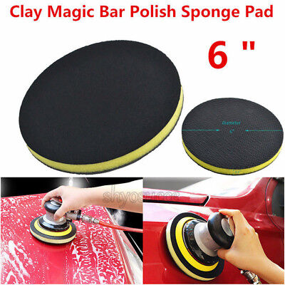 "6 "" Inch Clay Bar Polish Disc Pad Auto Car Care Wash Detailing Commercial Grade"