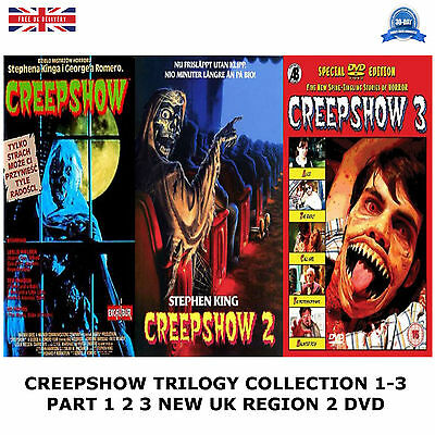 Creepshow - Trilogy Series 1-3 Collection Part 1 2 3 New Sealed Uk Region 2 Dvd