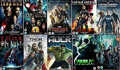 Avengers Ultimate Marvel Comic Heroes  All 10 Movies Complete Collection New DVD