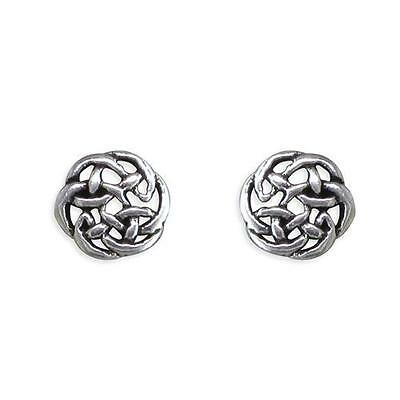 Sterling Silver Small Round Celtic Knot stud earrings