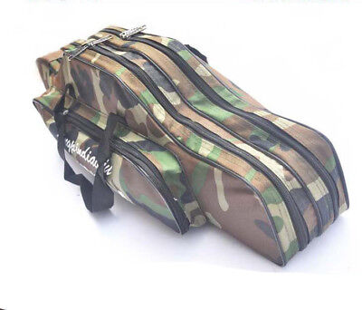 Camo Fishing Bag Fishing Rod Reel Case Carrier Holder Fishing Pole Tackble Bags