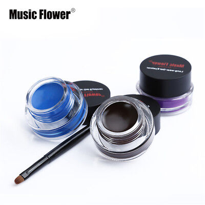 NEW Waterproof Black Eye Liner Eyeliner Shadow Gel Makeup Cosmetic Long Lasting