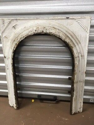 Antique Cast Iron Fireplace Surround Arched With Fan Design ***sale***