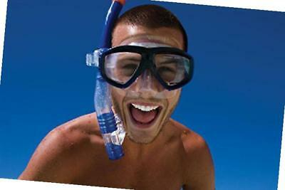 Zoggs Reef Explorer Snorkel Mask Set with Anti-Fog and UV Protection, Blue/Clear