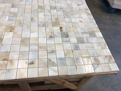 Calacatta Gold Marble Mosaic Tiles Floor/Wall Polished Marble Tile 50x50x10mm