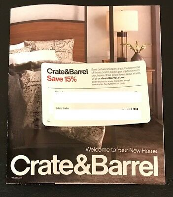 Crate & Barrel - 15% Off entire Purchase ONLINE/ IN STORE FURNITURE, TOO!