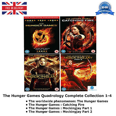 The Hunger Games Quadrology Series 1-4 Complete Collection 1 2 3 4 NEW R2 UK DVD