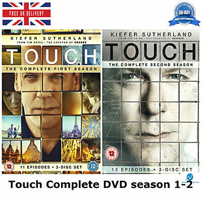 Touch 1-2 with all 24 Episodes Complete season 1 - 2 New Sealed UK Region 2 DVD