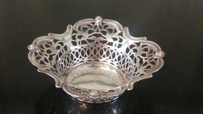 Pretty Victorian Silver Plated Gourdel Vales & Son Reticulated Bon Bon Dish 1865