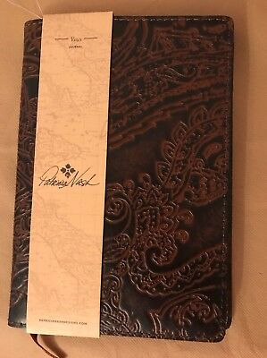 Patricia Nash Burnished Artisan Tooled Lace Vinci Journal Cover. DK. Brown~ NWT