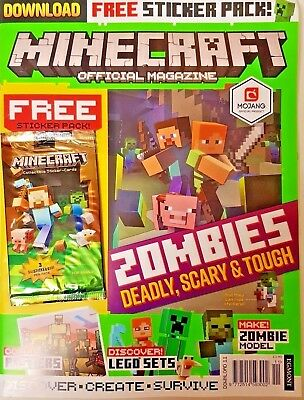 Minecraft Official Magazine Issue #11 ~ With Free Sticker Cards Pack ~