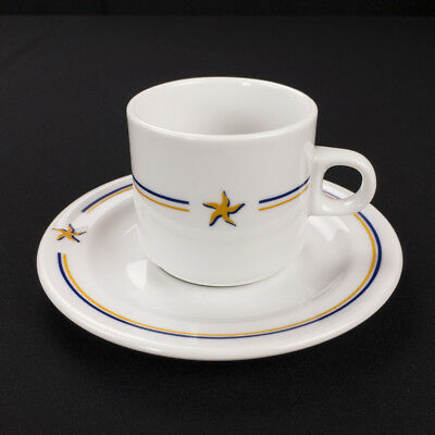 Iberostar Resorts Starfish Restaurant Ware Cup and Saucer by Porvasal Spain