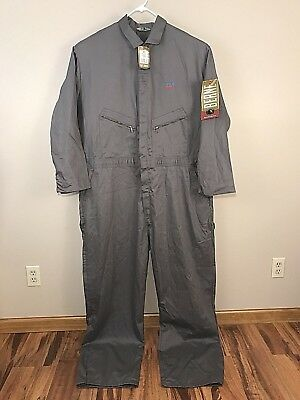 NEW Coveralls Berne Unlined Size 58 T 3XL Tall Mens Gray Long Sleeve Cotton NWT