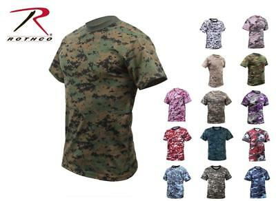 Rothco Camouflage Camo Military T-shirt, Digital, Subdued, Vintage Men's: SM-XXL