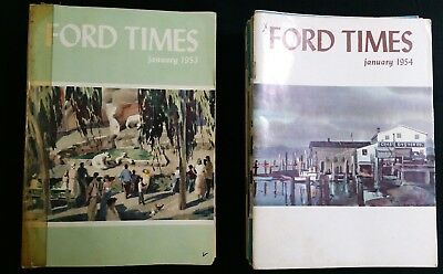 Ford Times Magazines, set/lot of 24 consecutive issues, Jan. 1953 To Dec. 1954