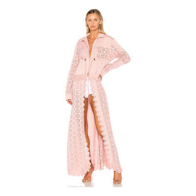8dc234bb0a7a Fenty Puma By Rihanna Tricot Embroidered Long Jacket Pink Size M