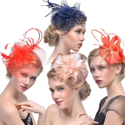 Womens Fashion Fascinator Cocktail Saucer Hats Derby Party Wedding Lady Headwear