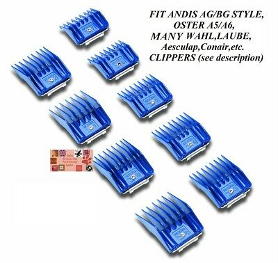 ANDIS 9 pc UNIVERSAL Guide Small Size COMB SET*Fit Many Oster,Wahl Blade&Clipper