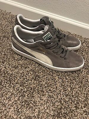 cc38d52d4950 PUMA MEN SIZE 11 Used Gray Suede Low Top -  35.00