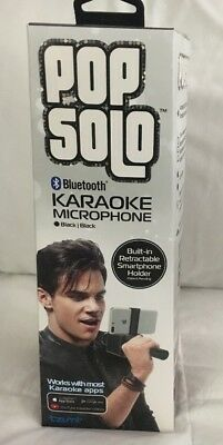 Pop Solo Wireless Bluetooth Karaoke Microphone With Smartphone Holder Tzumi New!