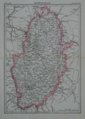 Map Of England And Wales With Cities.Original 1883 Shire Map England Wales Railroads Cities Towns York