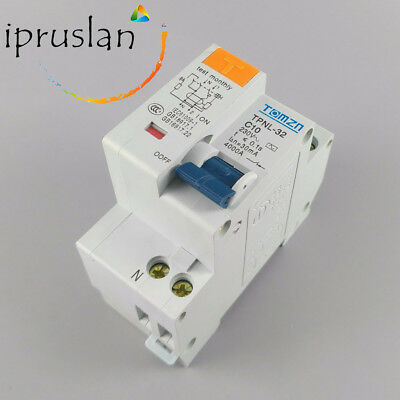 TPNL 230V 30mA Residual Current Circuit Breaker Overload Leakage Protection RCD