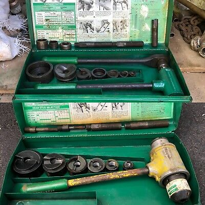 """GREENLEE 1806 and 1904/1906SB Ratchet Knockout Driver 2"""" to 1/2"""" Two Sets Lot"""