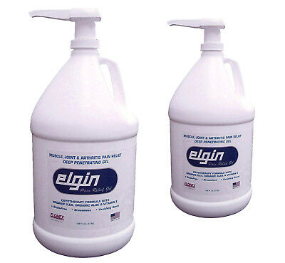 2-EACH  Elgin Pro Pain Relief Gel - 128 oz / 1 Gallon - BIOFREEZE ALTERNATIVE