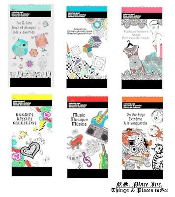 The Art Therapy Patterns Mini Coloring Book Adult Relaxing Stress Relieving Kids