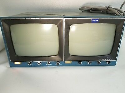 Vintage Electrohome Side By Side Dual Video Monitors V06-207